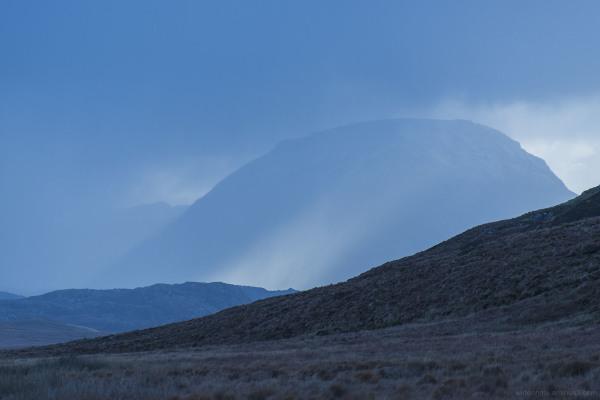 sutherland scotland november mountains moors bogs