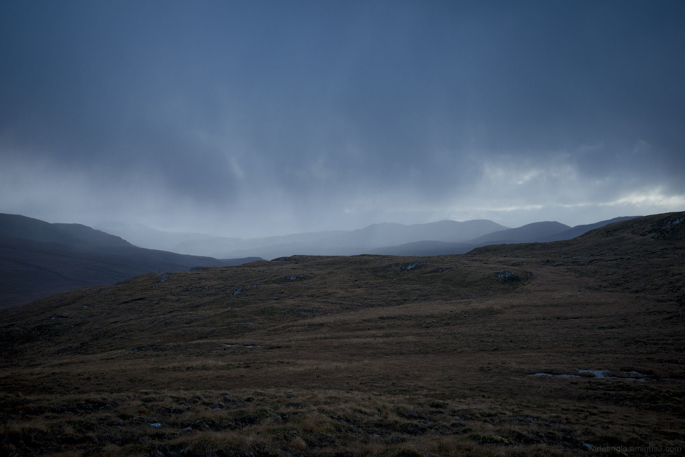 sutherland scotland november mountains moors bogs
