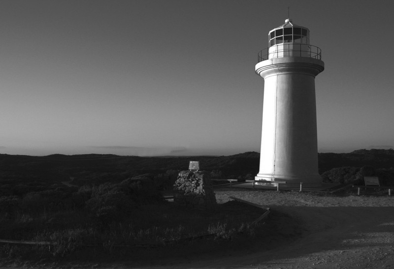 Cape Banks Lighthouse BW