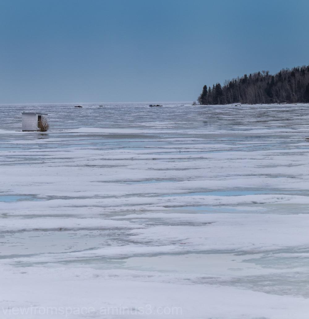 ice fishing lake winnipeg end of season manitoba c