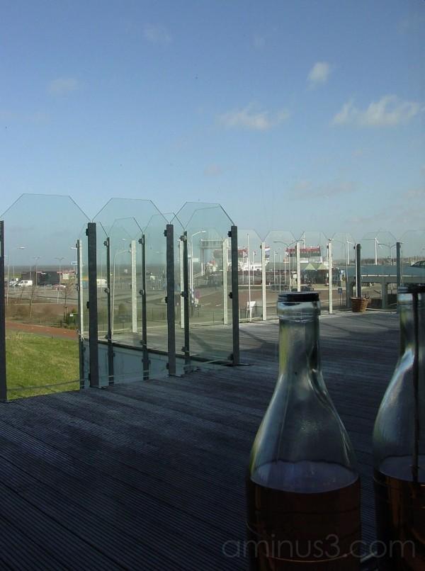 Lauwersmeer: view from ferry pier restaurant