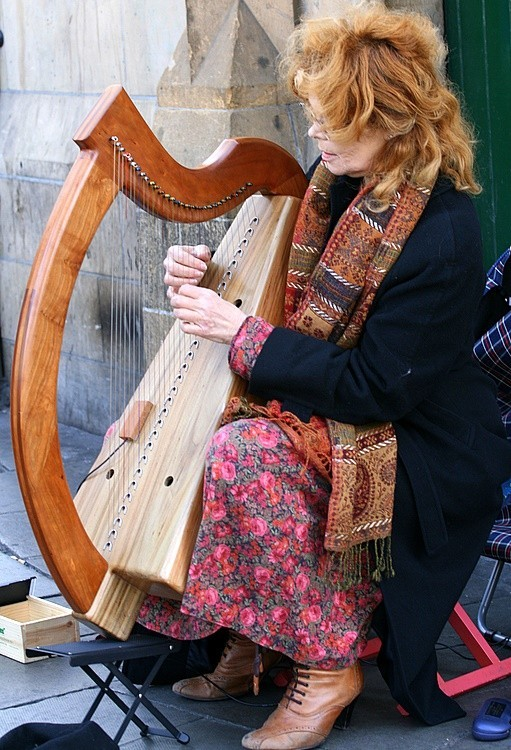 The Irish and celtic Harpist Ireland