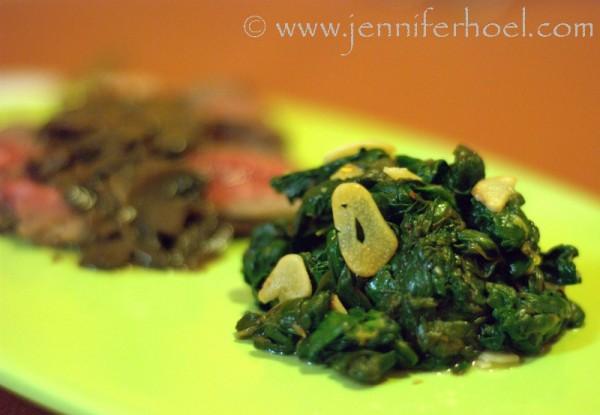 sauteed garlic-lemon spinach