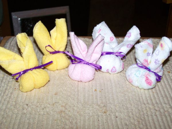 washcloth bunnies
