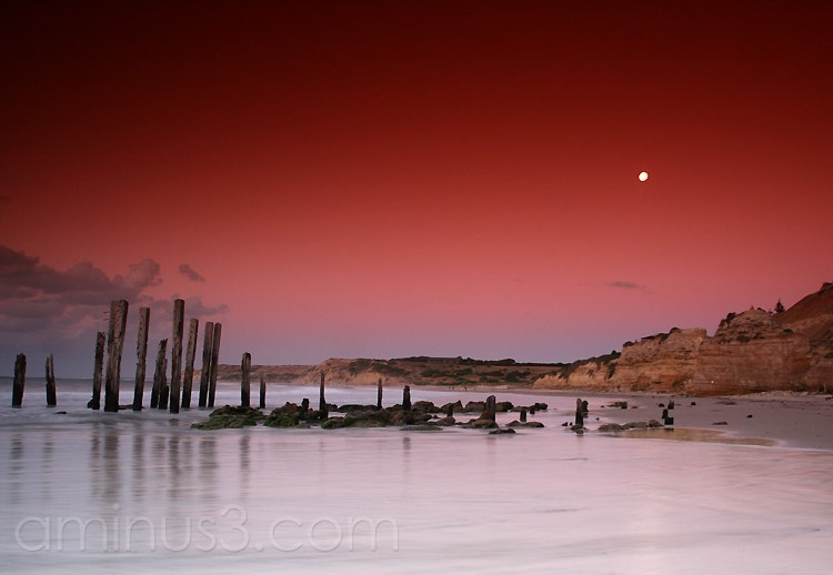 Sunset over Pt Willunga jetty