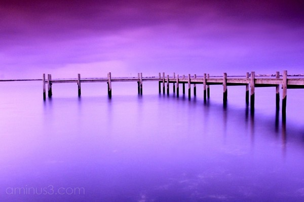 Long exposure photograph at Mundoo Channel