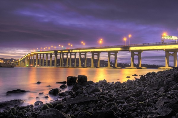 Tasman Bridge at sunrise