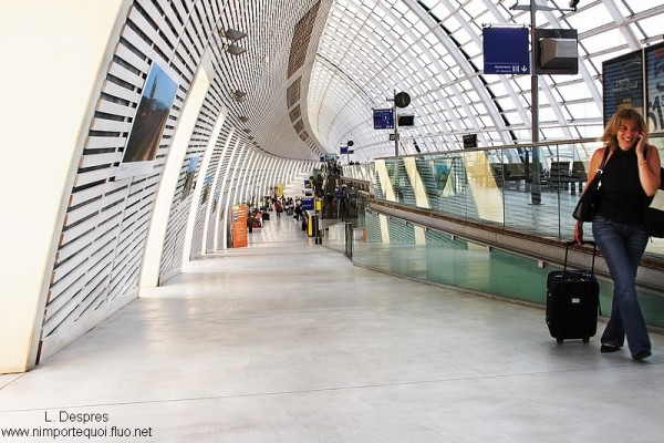 Avignon railway station for high speed train (TGV)