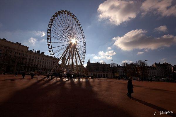 in the big wheel shadow