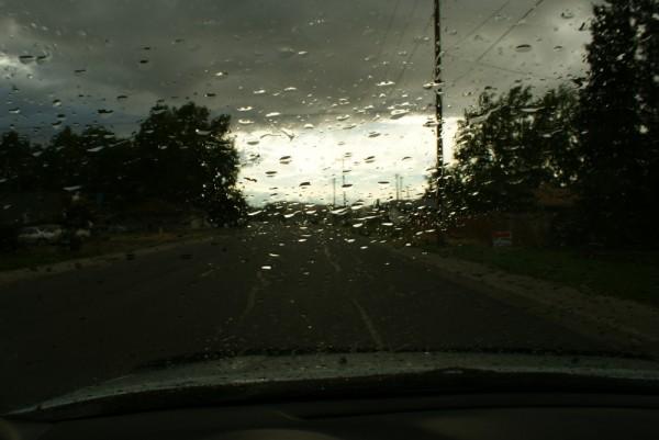 rainy drive home