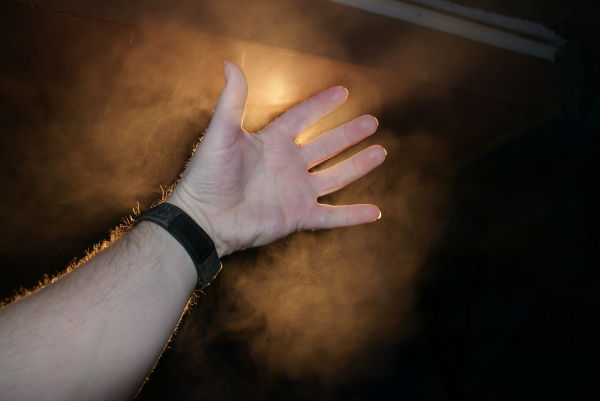 misty hand