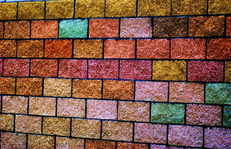 the crayola crayon brick wall