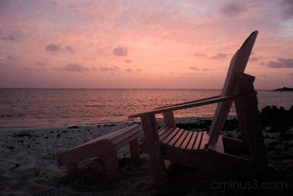 Anegada, BVI - Beach Chair at Dawn