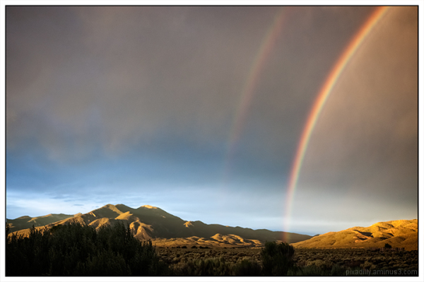 Double Rainbow and Taos Mountain