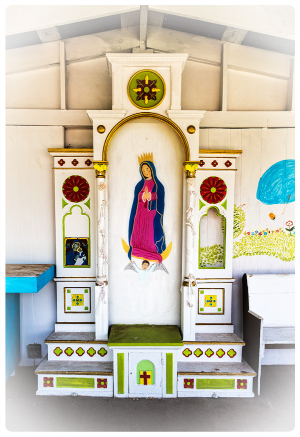 Outdoor Guadalupe Altar