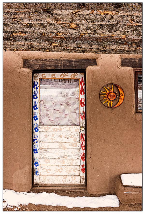 Pueblo Handprint Door