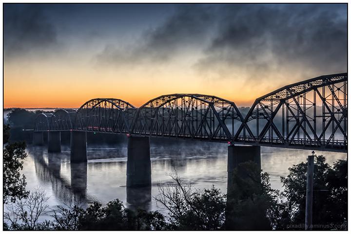 Morning Mist on the Mississippi