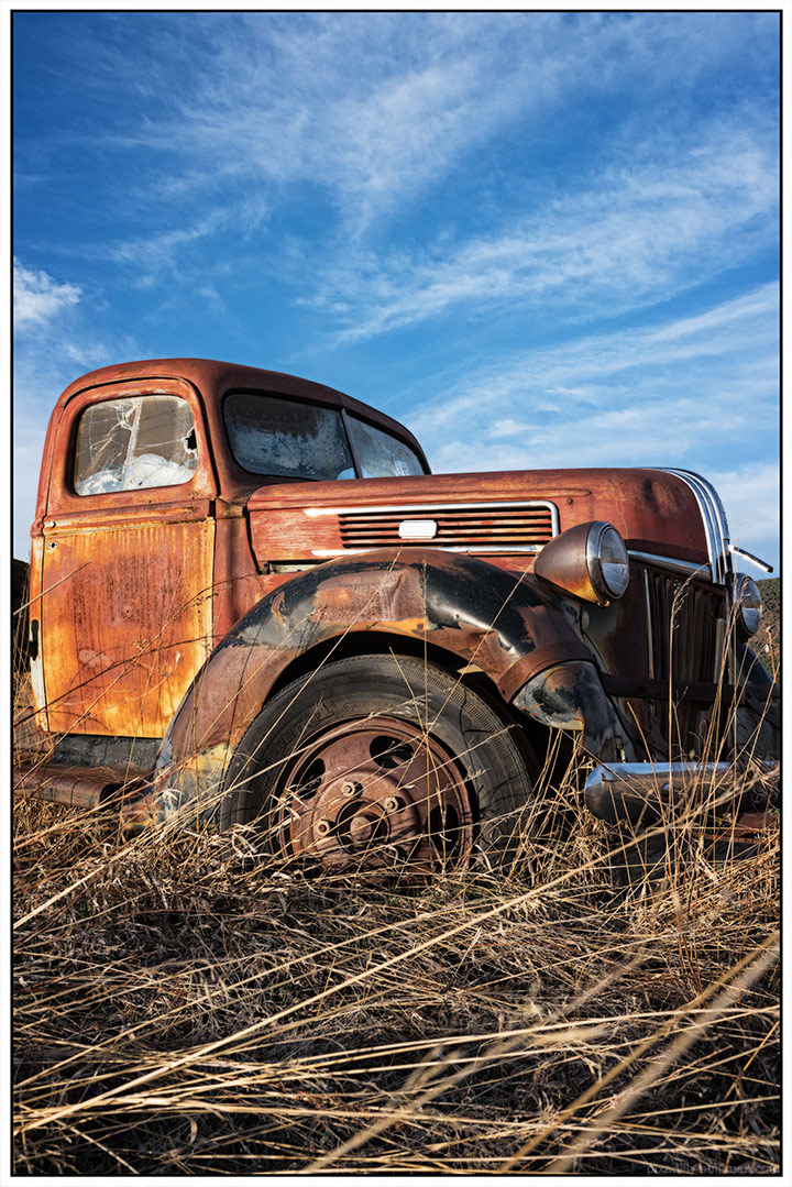 Rusty Truck at Sunset