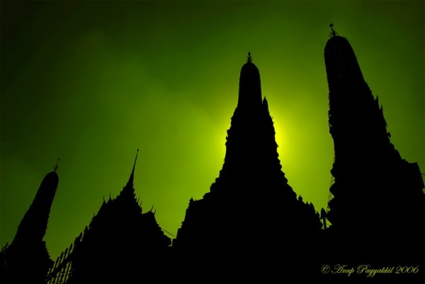Wat Arun Silhouette, Bangkok, Thailand