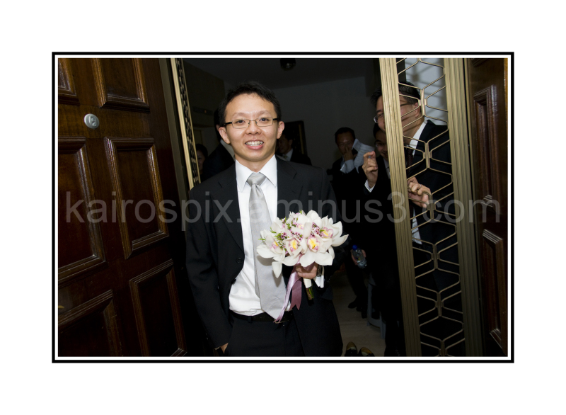 "Groom coming to ""win"" his bride - #013"