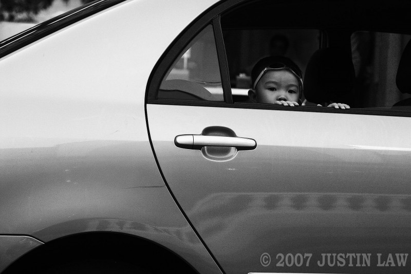 boy in car looking at me