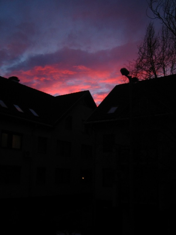 debrecen sunset sundown pink clouds Wesselényi hun