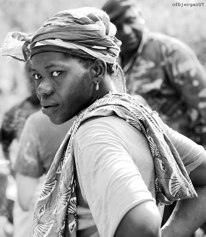 female gold miner in narena