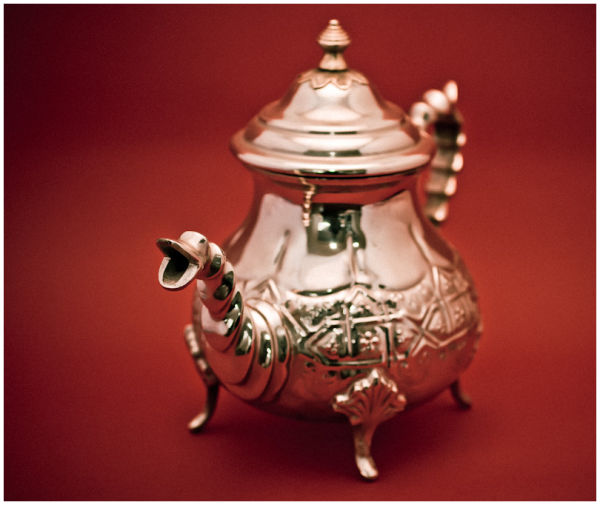 Silver teapot from Marrakesh, morrocco