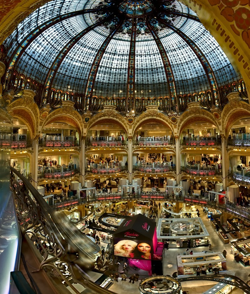 galeries lafayette paris architecture photos pouhou. Black Bedroom Furniture Sets. Home Design Ideas