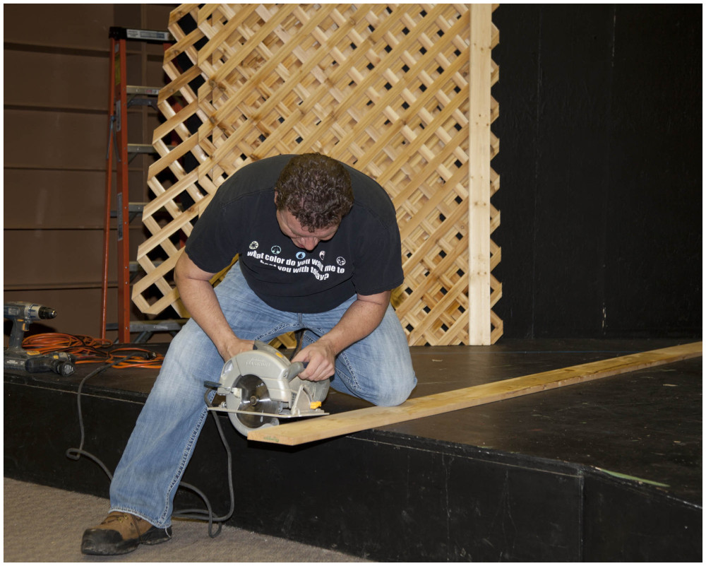 Set Building For A Play