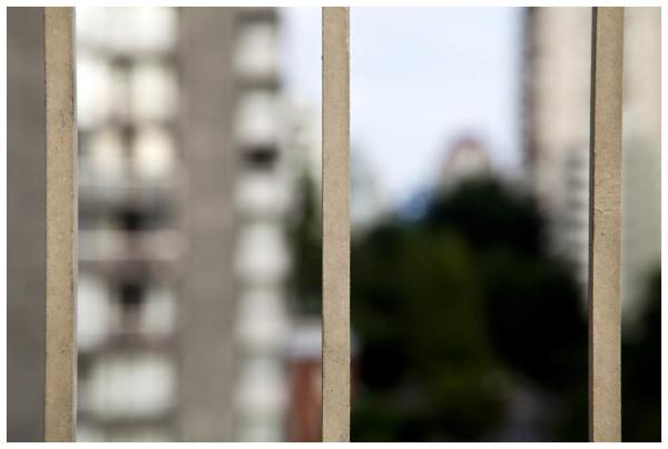 Cityscape Through A Window