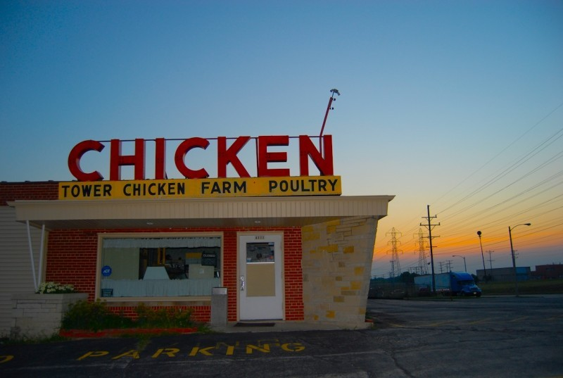 Sunset at the Chicken Farm