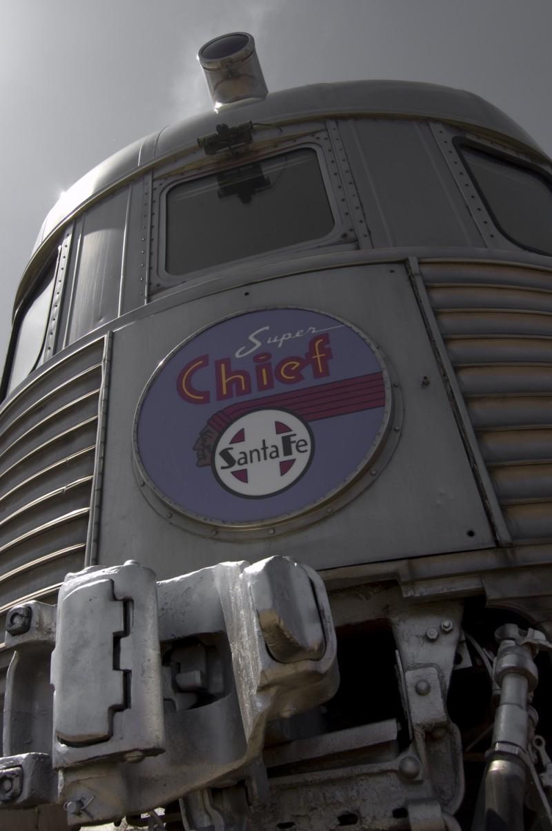 santa fe super chief car at the Railroad Museum
