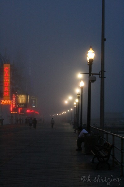 Atlantic City Boardwalk - Fog and Mist included