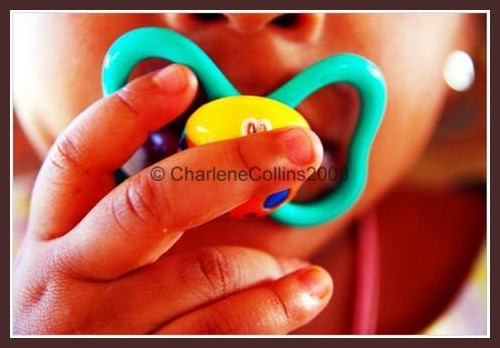 Jamaica Haley Collins Pacifier toddler