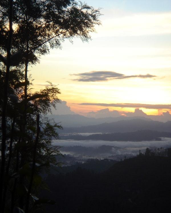 rising sun at Sri Lanka