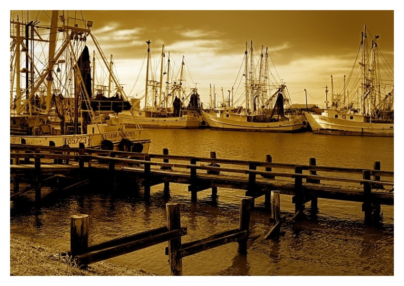 Shrimp boat docks, Port Lavaca, Texas