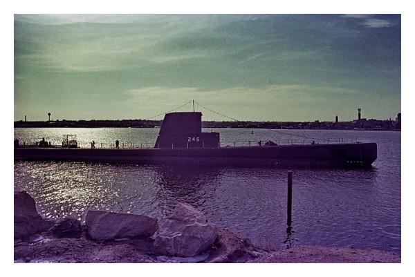 Submarine Leaving Port, New London