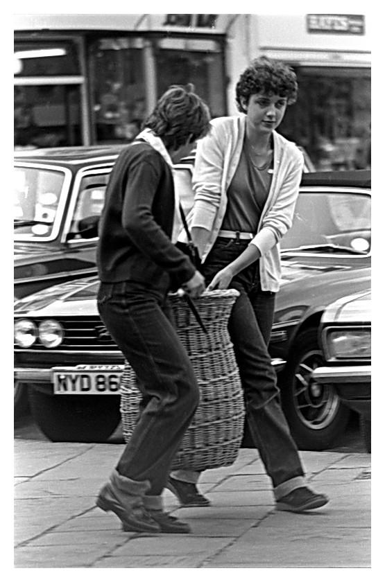 Women carrying basket