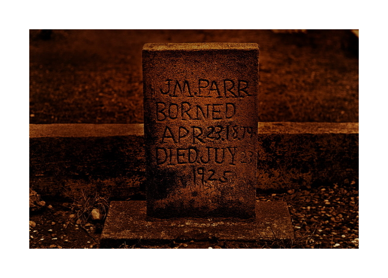 Gravestone, Parr, Borned