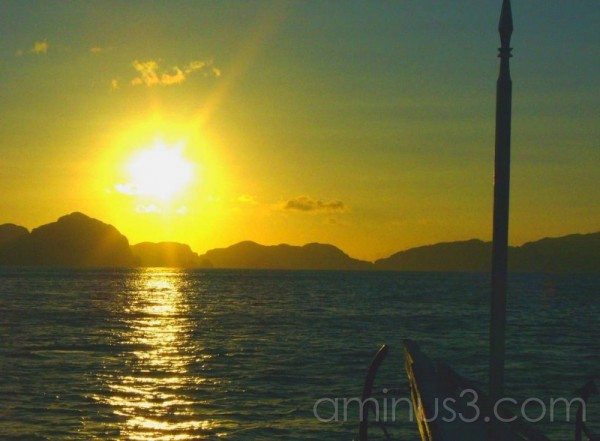 sunset over palawan