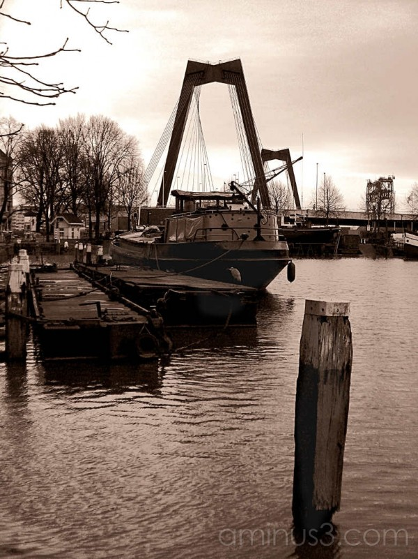 Old barge Rotterdam