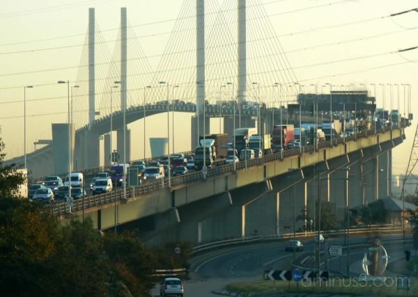7.49 am. Dartford Bridge