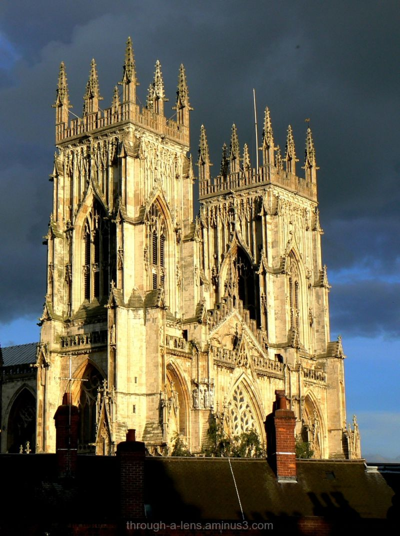 Dark skies over York Minster