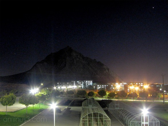 Isfahan University of Technology in the Midnight
