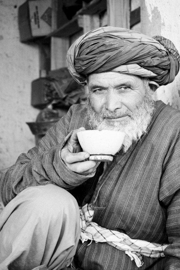 man teacup northern afghanistan