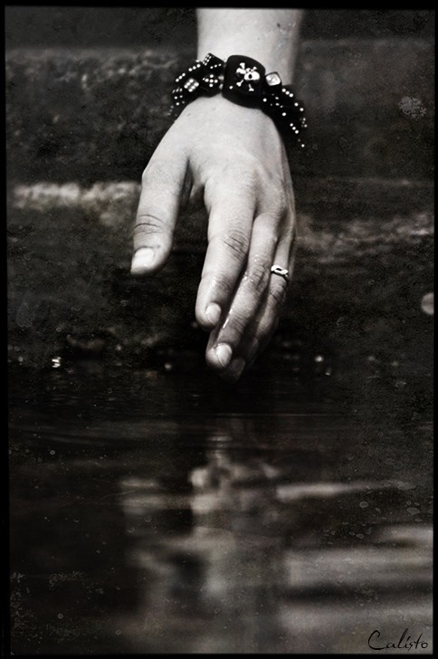 hand, water, emotive, reflection, touch