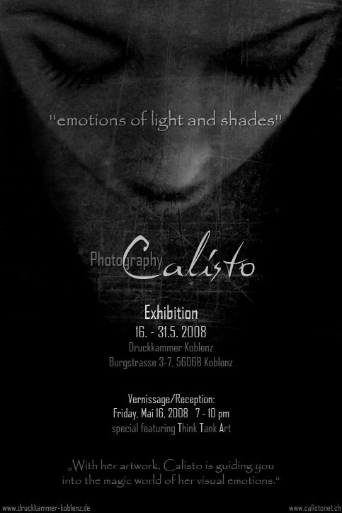 exhibition, emotions, light and shades, calisto, s