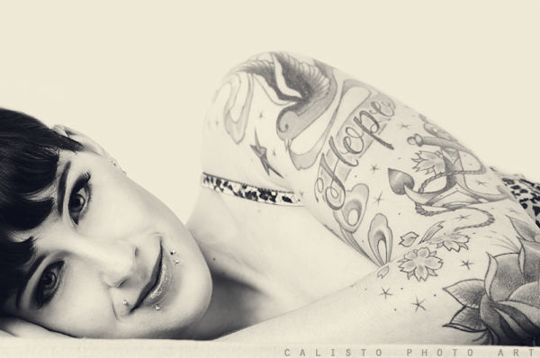 arwen, elf, tattoo, portrait, smile, soft