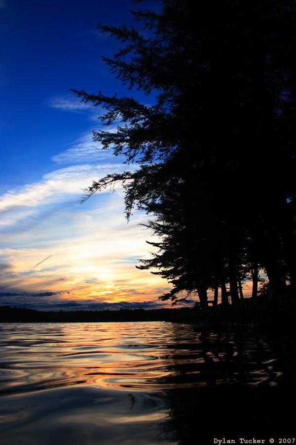 Sunset over Caroga Lake